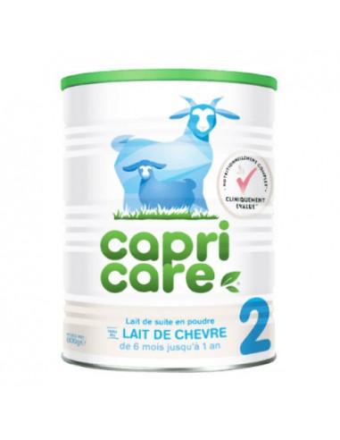 Capricare 2e âge lait de chèvre en poudre. 800g
