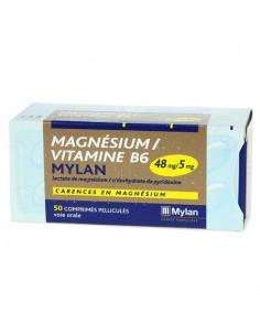 Magnésium/Vitamine B6 Mylan Carences en Magnésium. 50 comprimés pelliculés