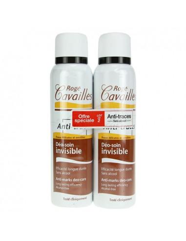 Rogé Cavaillès Invisible Déo-Soin Anti-Traces. Lot 2 Sprays 150ml