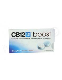 CB12 Boost Gomme à Mâcher sans sucres. Plaquette de 10 gommes