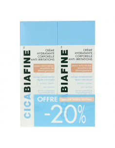 Cicabiafine Crème Hydratante Anti-irritations Lot de 2x200ml