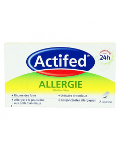 Actifed Allergie Cétrizine 10mg. 7 comprimés