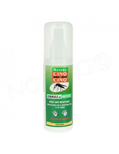 Cinq sur Cinq Spray Anti-moustiques Formule au Naturel. 100ml