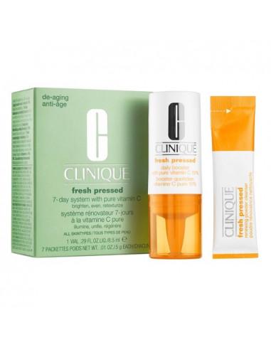 Clinique Fresh Pressed Système Rénovateur 7-jours Vitamine C Pure. Flacon 85ml + 7 sachets de 5g
