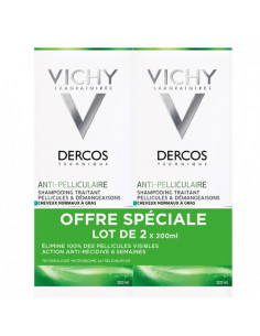 Vichy Dercos Anti-Pelliculaire DS Shampooing Traitant. Lot 2x200ml