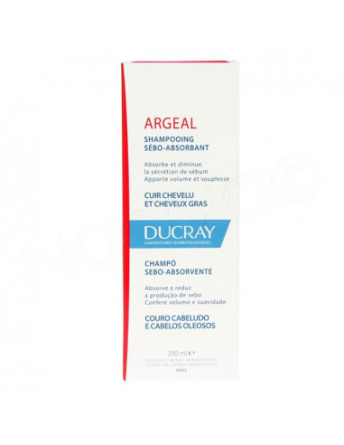 Ducray Argeal Shampooing Sébo-absorbant. 200ml