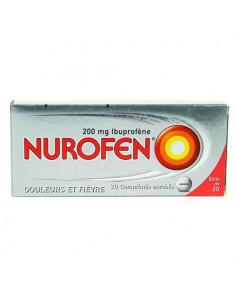 Nurofen 200 mg Ibuprofène Douleurs et Fièvre. 30 comprimés enrobés