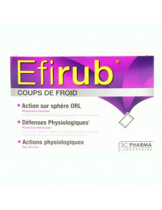 Efirub Coups de Froid Boite 16 sachets Les 3 Chênes - 1