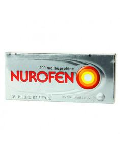 Nurofen 200 mg Ibuprofène Douleurs et Fièvre. 20 comprimés enrobés