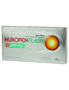 NurofenFlash 200mg Ibuprofène 12 comprimés pelliculés.