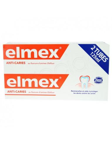 Elmex Anti-caries Dentifrice Lot 2x125ml
