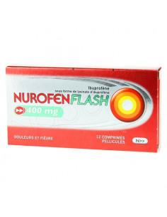 NurofenFlash 400 mg Ibuprofène Douleurs et Fièvre. 12 comprimés pelliculés
