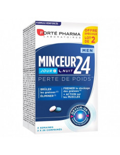 Forté Pharma Minceur 24 Men Jour Nuit Lot 2x28 comprimés Forté Pharma - 1