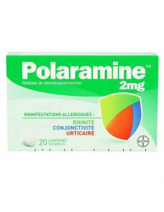 Polaramine 2 mg rhinite conjonctivite urticaire 20 comprimés