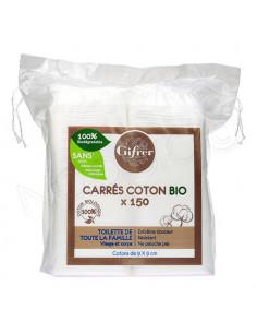 Gifrer Carrés Coton 100% Bio. 150 carrés - 100 % fibres de coton bio