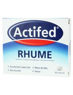 Actifed Rhume Paracétamol 15 comprimés