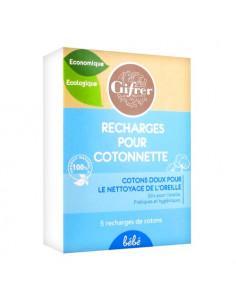 Gifrer Recharges pour Cotonnette Bébé. x5 recharges