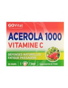 GoVital Acerola 1000 Vitamine C. 30 comprimés à croquer