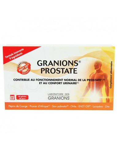 Granions Prostate et Confort Urinaire. 40 gélules