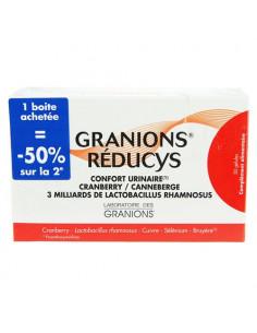 Offre Granions Réducys Confort Urinaire. lot 2x30 gélules la 2ème à -50%
