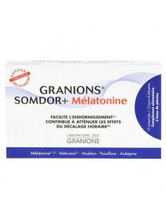 Granions Somdor+ Mélatonine. Boite 15 comprimés : 15 jours