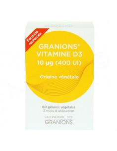 Granions Vitamine D3 Formule Renforcée. 60 gélules végétales
