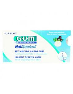 Gum halicontrol sans sucre arôme cassis mentholé 10 pastilles
