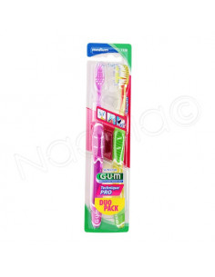 Gum Sunstar Brosse à dents Technique Pro Médium. Lot de 2