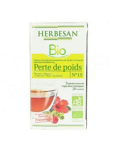 Herbesan Bio n°15 Perte de Poids 20 sachets. 30g