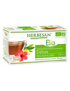 Herbesan Infusion Bio Détox. 20 Sachets