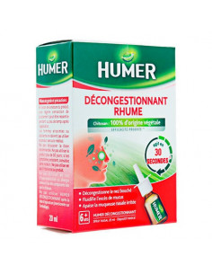 Humer Décongestionnant Rhume. Spray Nasal 20ml