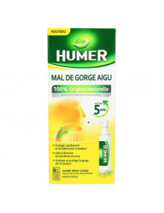 Humer Mal de Gorge Aigu. Spray 30ml avec embout diffuseur