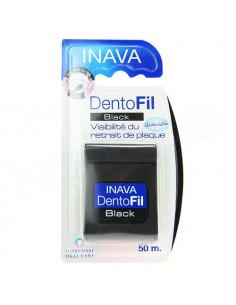 Inava DentoFil Black 50m fil dentaire noir