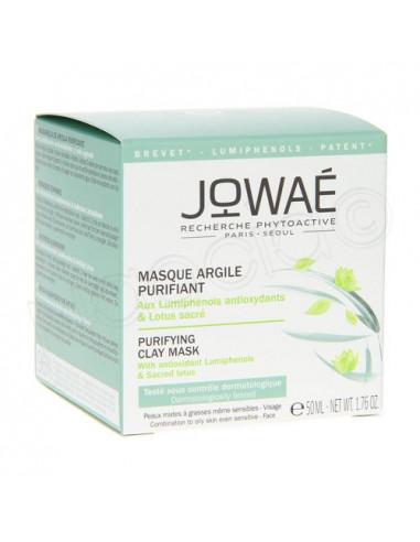 Jowaé Masque Argile Purifiant Peaux Mixtes à Grasses. 50ml -