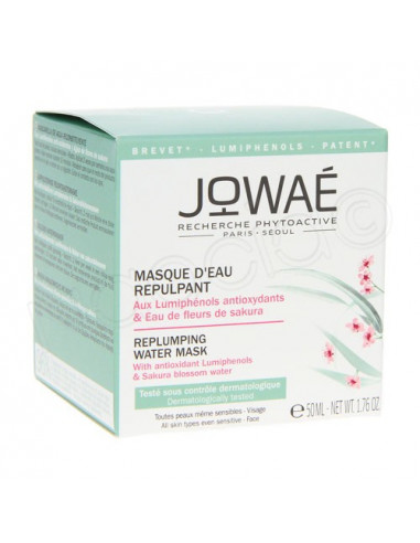 Jowaé Masque d'Eau Repulpant Hydratant Tous types de peaux même sensibles. 50ml -
