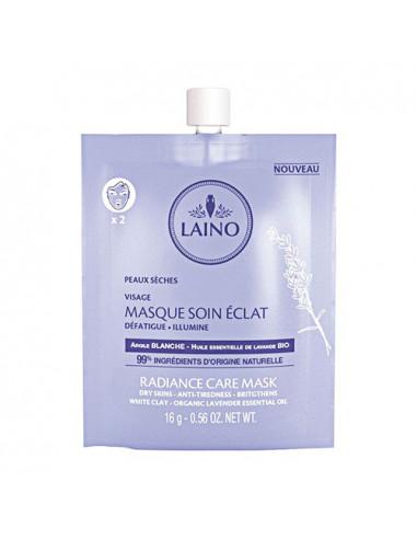 Laino Masque Soin Éclat Argile Blanche Peaux Sèches. 16g - 99% d'ingrédients d'origine naturels
