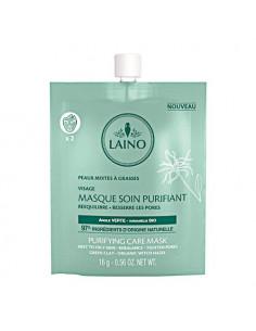 Laino Masque Soin Purifiant Argile Verte Peaux Mixtes à Grasses - 97% d'ingrédients naturels