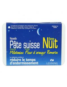 Lehning Pâte Suisse Bonne Nuit Mélatonine Fleur d'Oranger Romarin sans sucres. 40 pastilles