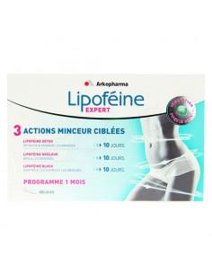 Lipoféine Expert 3 actions minceur ciblées. Programme 1 mois