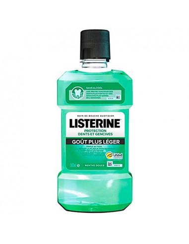 Listerine Bain de bouche Protection Dents et Gencives. Goût plus léger. 500ml - sans alcool