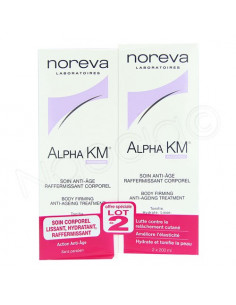 Noreva Alpha KM Soin Anti-âge Raffermissant Corporel. Lot 2x200ml