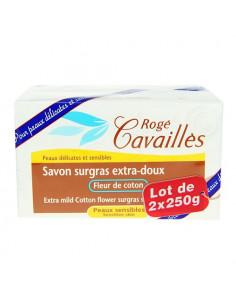 Rogé Cavaillès Savon Surgras Extra-doux Fleur de Coton. Lot 2x250g