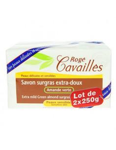 Rogé Cavaillès Savon Surgras Extra-doux Amande Verte. Lot 2x250g