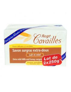 Rogé Cavaillès Savon Surgras Extra-doux Lait et Miel. Lot 2x250g