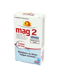 Mag2 Stress Magnésium Marin - Résistance au stress Fatigue nerveuse. 30 comprimés -