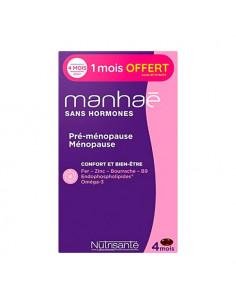 Manhaé Pré-ménopause & Ménopause Sans Hormones. 120 capsules dont 30 offertes