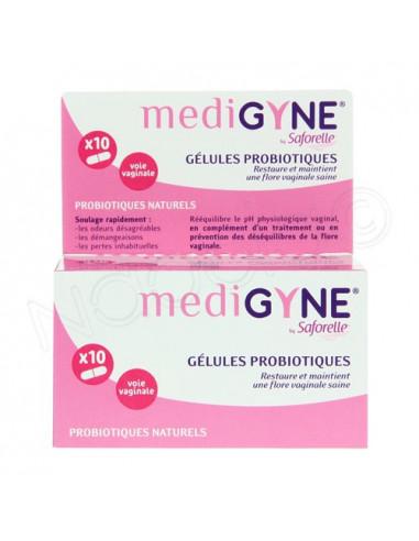 MediGyne Gélules Probiotiques. x10 gélules voie vaginale