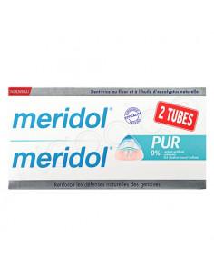 Meridol Dentifrice Pur. Lot 2x75ml - 0% colorant SLS arôme artificiel