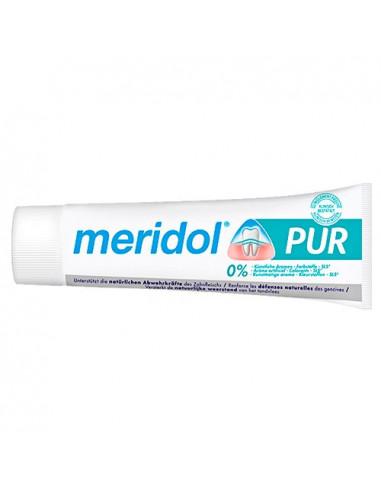 Meridol Dentifrice Pur. 75ml - dentifrice fluoré 0% colorant SLS & arôme artificiel