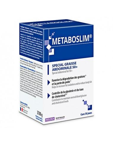 Metaboslim Spécial Graisse Abdominale 50+. 90 gélules - syndrome métabolique 50 ans et +